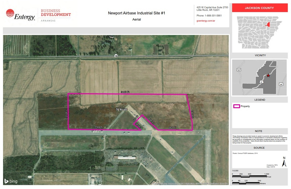 Newport Airbase Aerial Map
